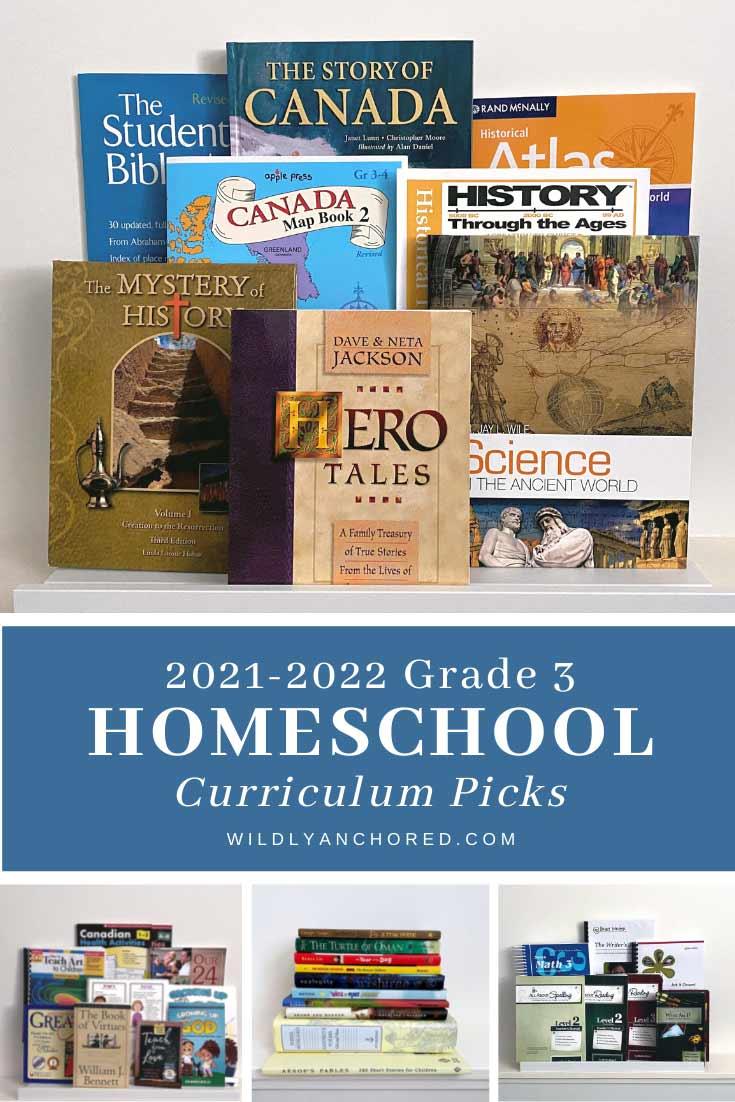 2021-2022 Grade 3 Homeschool Currirulum Picks