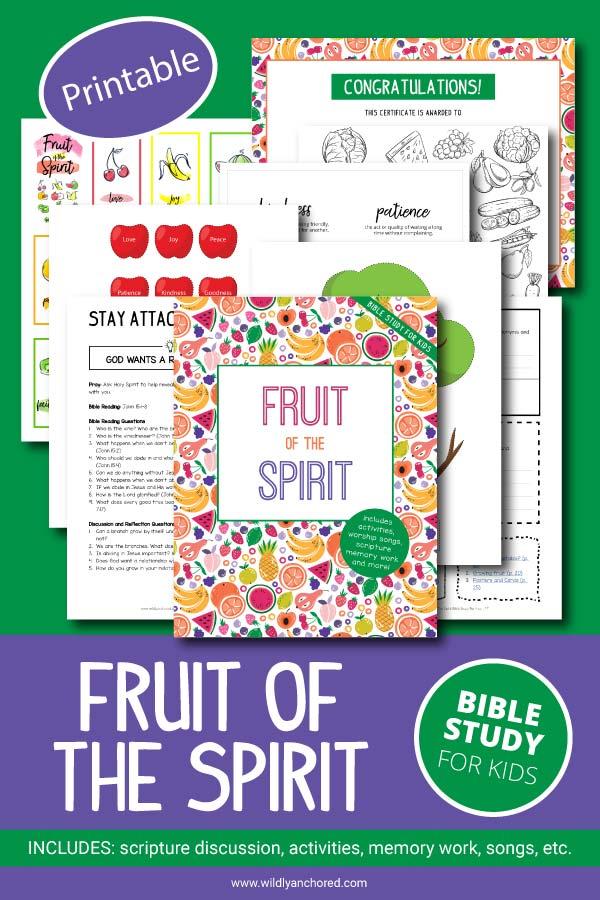 Fruit Of The Spirit Bible Study For Kids Printable