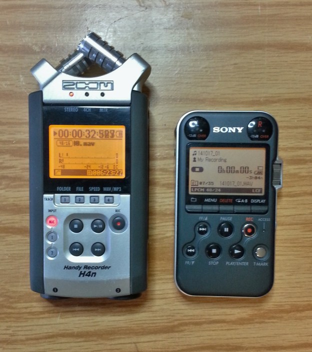 Zoom H4n and Sony PCM-M10