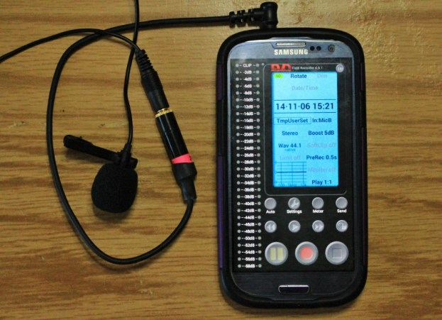 Smartphone with microphone