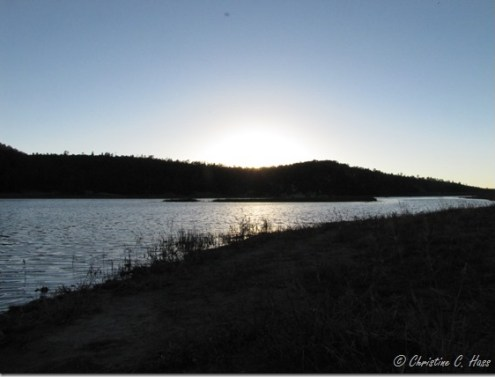 Sunset at Quemado Lake