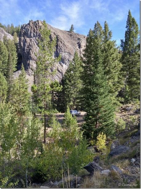 Camp near the Yankee Fork River