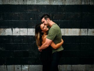 Courtney + Patrick // Strip District - Engagement Shoot