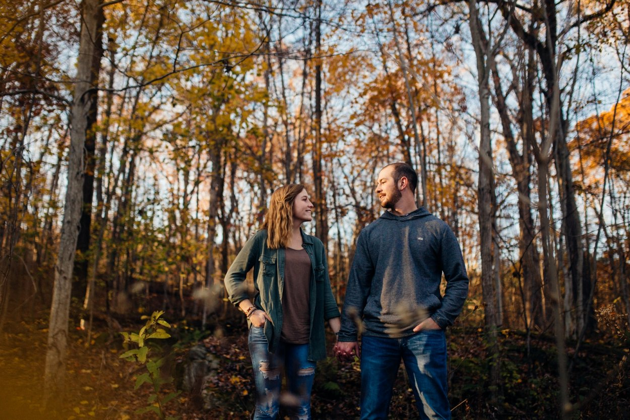 Ohiopyle Pennsylvania Engagement Photos