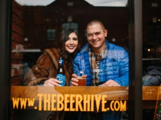 Kayleen and Brett - Cozy Winter Pittsburgh Engagement