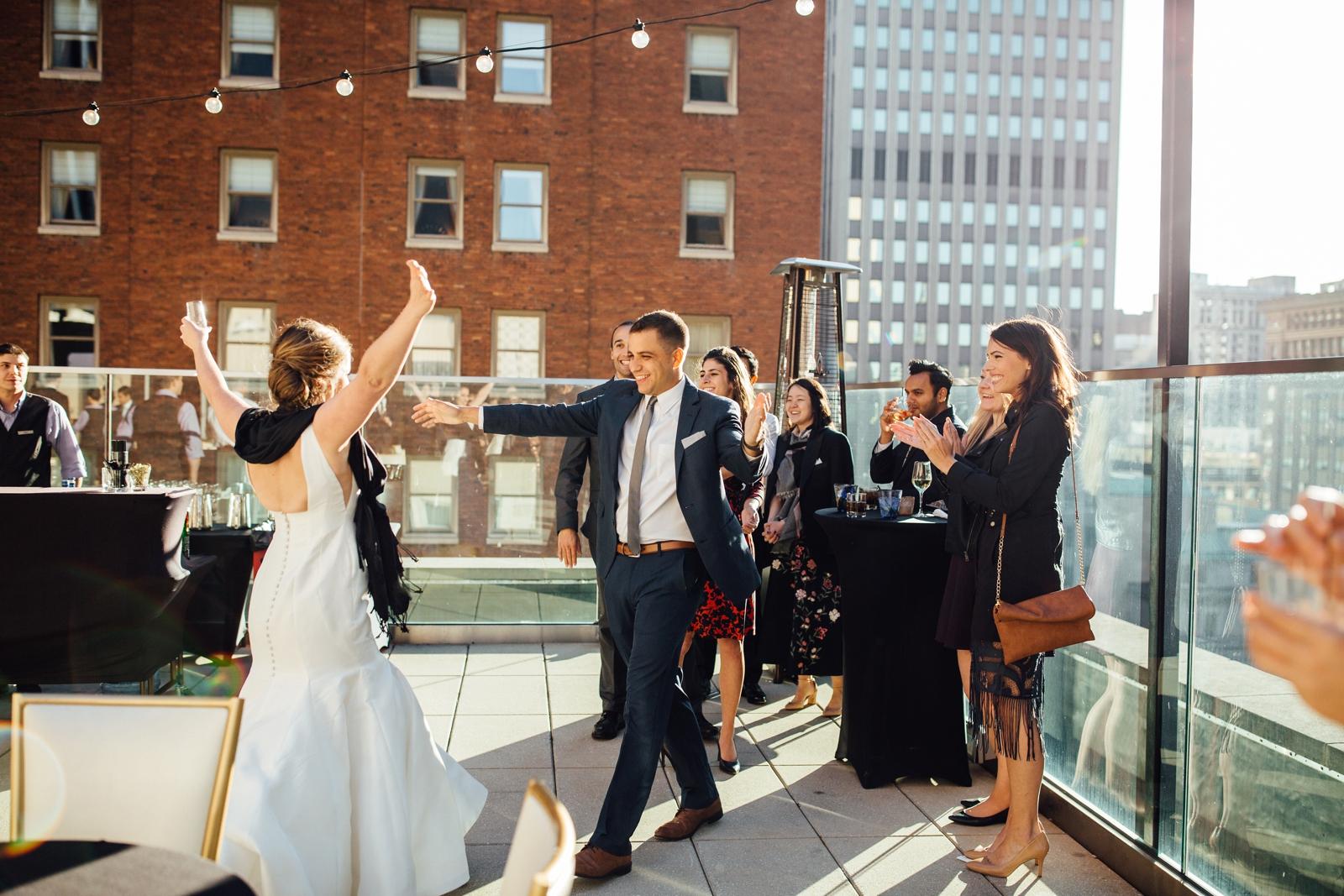 Hotel Monaco Downtown Pittsburgh Wedding Photographer Wild Native