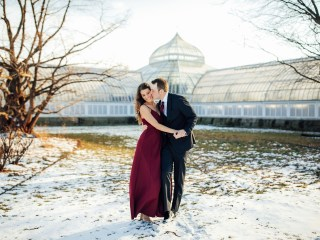 Megan + CJ - Phipps Conservatory Engagement Session