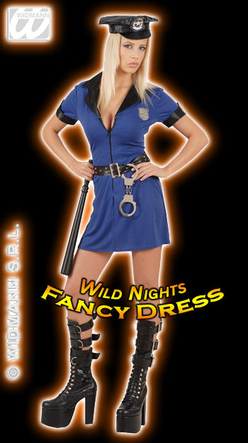 FANCY DRESS COSTUME DELUXE SEXY POLICE GIRL MED 1012