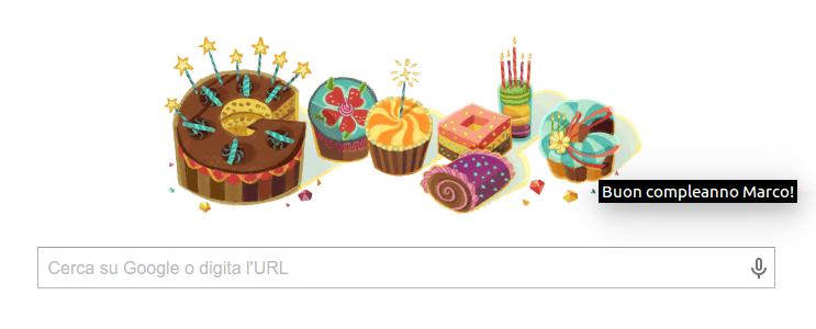 Google mi augura buon compleanno!