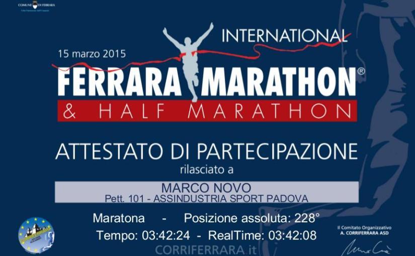 Maratona di Ferrara (42th Ferrara Marathon)