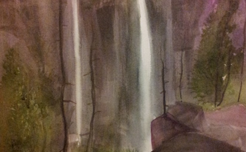 Watercolor paint (NEW) – Waterfalls rock, 2016