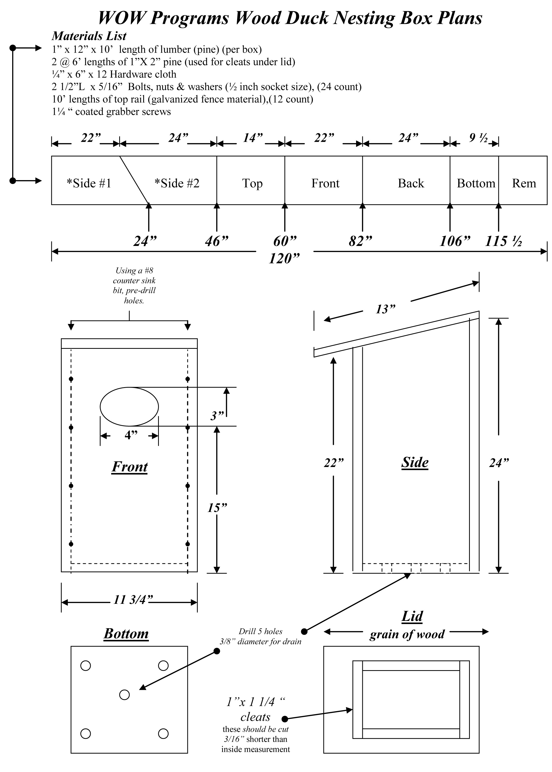 wood duck box plan