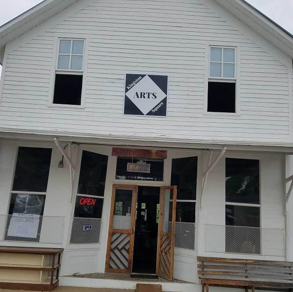 Kingston Square Arts shop in Kingston, Arkansas.
