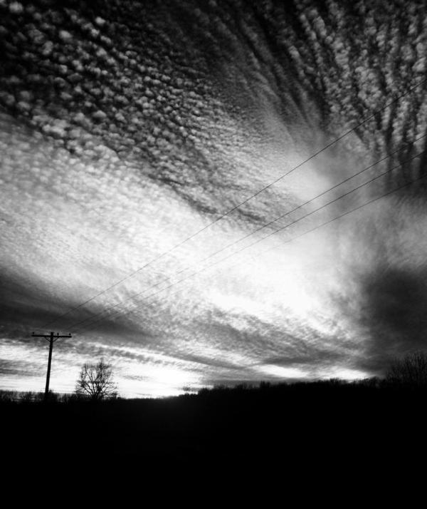 Cloudscape in black & white.
