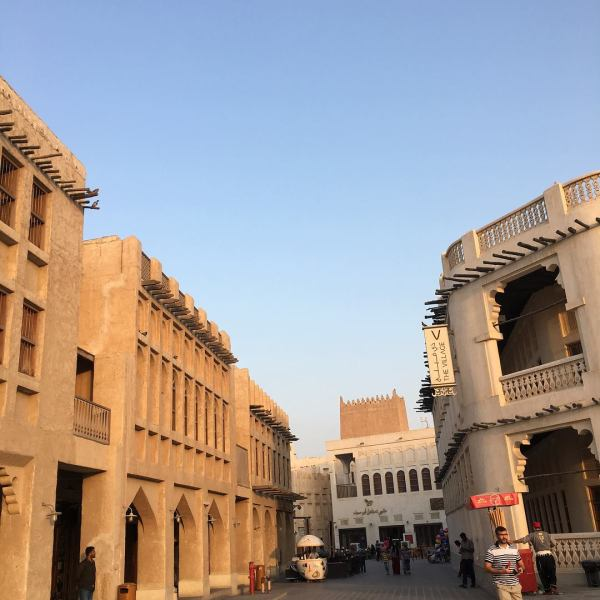A view from the Souq Waqif.