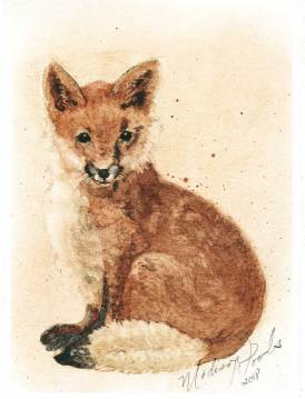 Come out and see Fox No. 1 all framed and hanging on the wall at the artists reception for the ANA Member's Show at the Faulkner Center for Performing Arts.