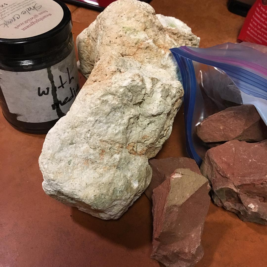Creek tumbled limestone from Madison county, Arkansas.