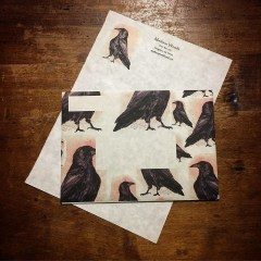 Handmade crow stationary, derivative art products from works using my paint from rocks.