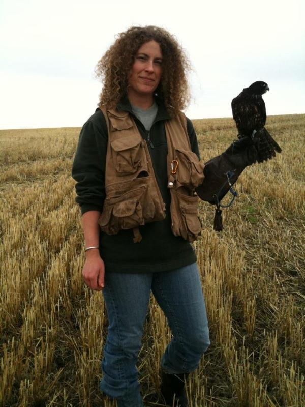 Simone and Henry of the falconry story.
