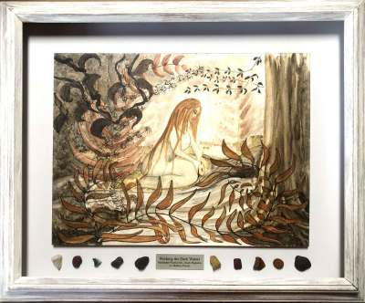 Working the Dark Waters, a framed original by Madison Woods