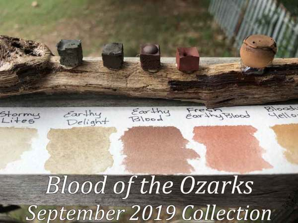 Closeup of the Blood of the Ozarks collection from Wild Ozark Paleo Paints.