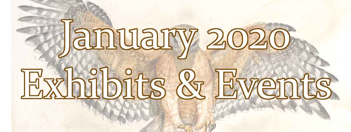 January exhibits and events