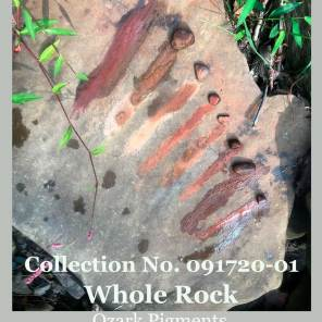 A collection of shades of red ochre whole pigment rocks from Wild Ozark.