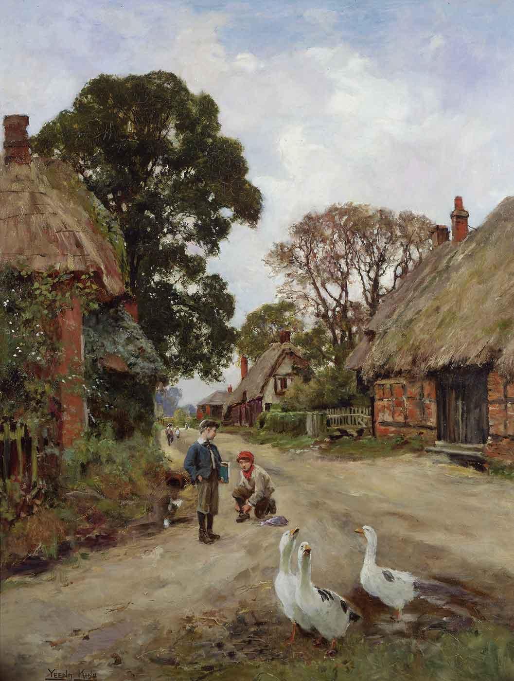 Off to School by Henry John Yeend King