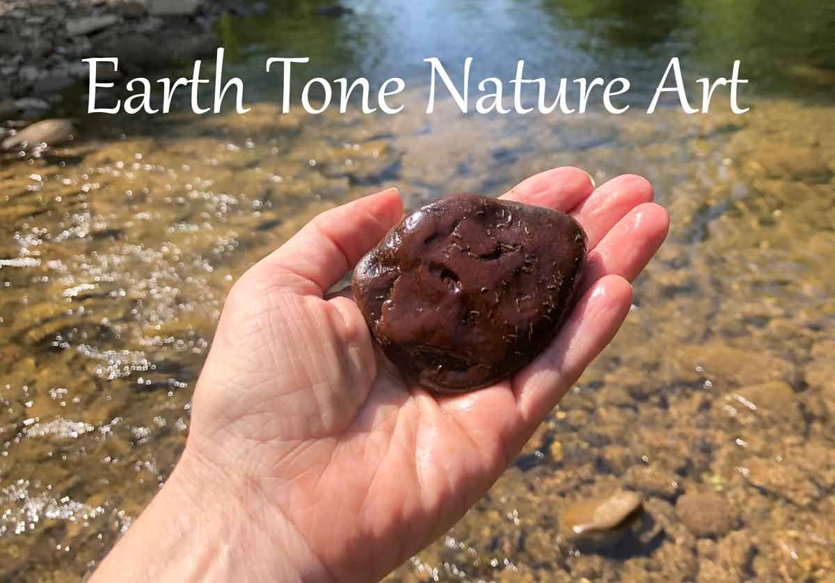 My earth tone art comes from nature itself. I forage the pigments and paint scenes of nature.