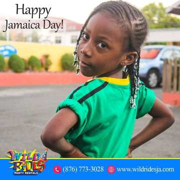 Land We Love Happy Jamaica Day WildRidesPartyRentals JamaicaDay