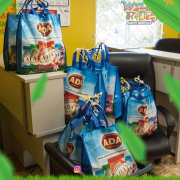 Giveaways courtesy of ADA Manufacturing Jamaica Limited; A very lovely gift bag