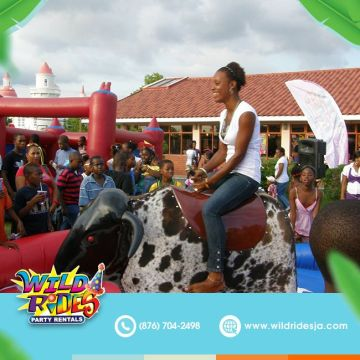 It's all fun and games, until your friend picks you to ride the bull next.  #wil