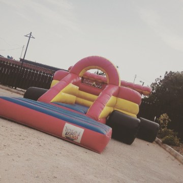 Inflatable Car Bouncer all setup. #wildridesja #wildridesjamaica