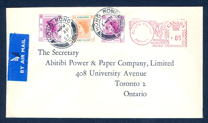 HONG KONG 1957 QEII COMBO/CANADA METER COMBO | eBay