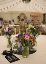 Summer Jam Jar Table Flowers