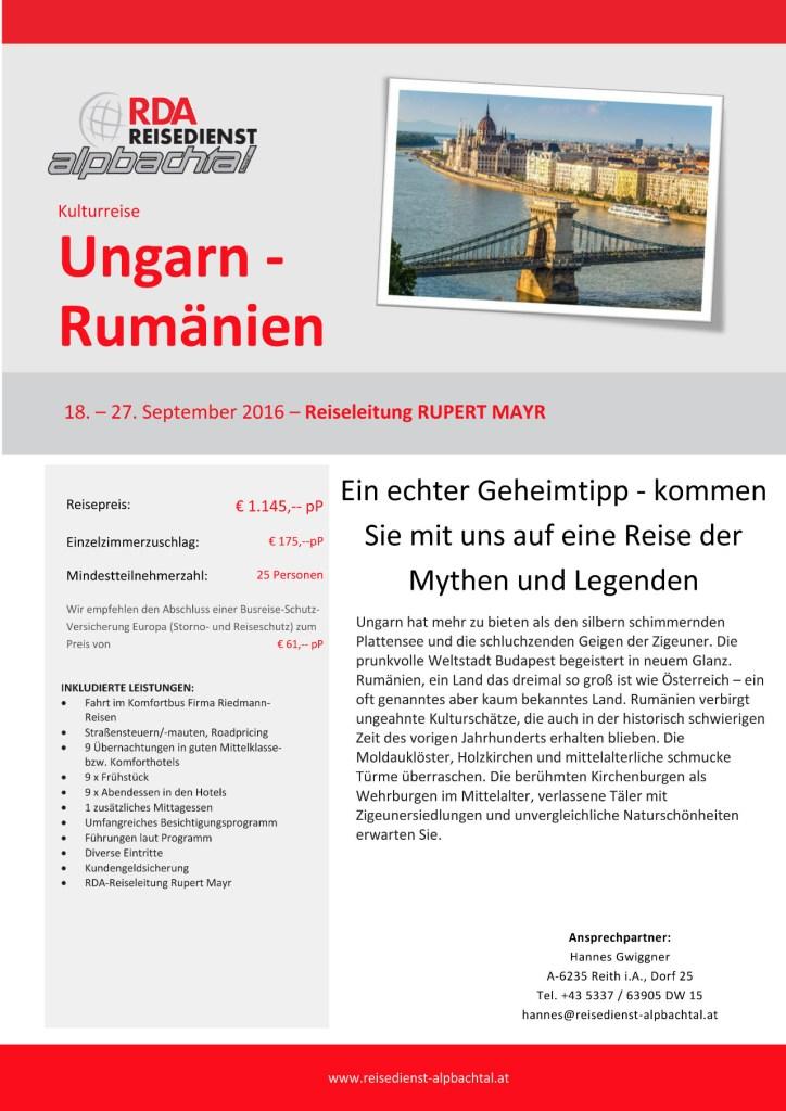 Ungarn-Rumaenien - Rupert Mayr - Silberberger TV-1