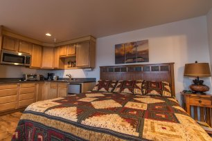Wild Strawberry Lodge Suites all have comfortable sleeping options for your party