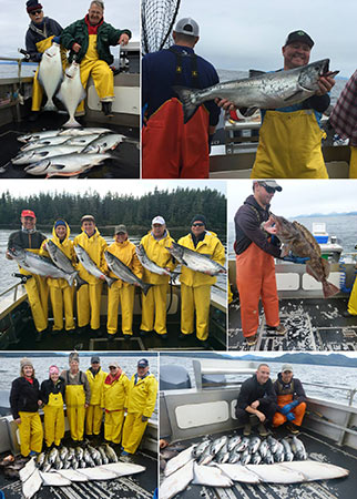 9 5 2015 Successful catches of King Salmon Silvers Halibut