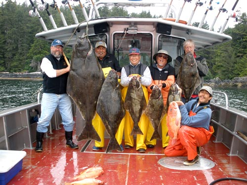A Nice Pattern of Halibut Down the Line
