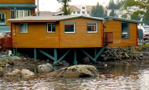 A View of the Cabin Near the Water at WSL