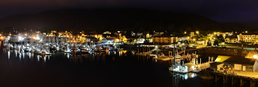 Sitka Alaska at Night