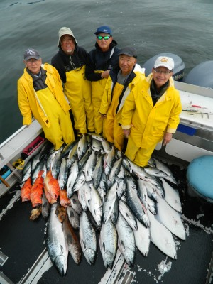 Amazing Catch of Alaskan Fish in Sitka