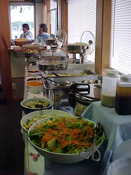 Dinner Buffet at the Wild Strawberry Lodge in Sitka, AK