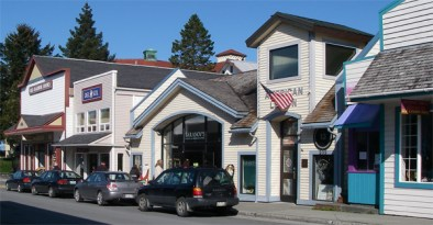 Shops on the Downtown Streets of Sitka, Alaska
