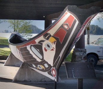 50-Foot Tlingit Ceremonial Canoe in Sitka, AK