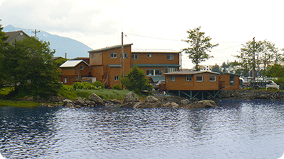 Lodge from the Alaskan Water