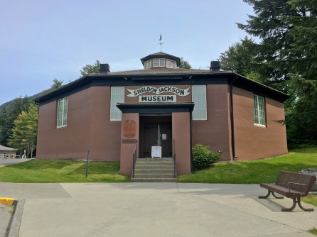Sheldon Jackson Museum Entry In Sitka, Alaska