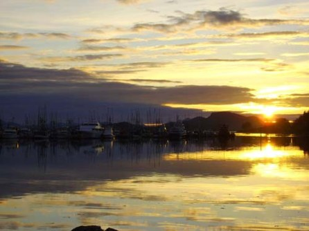 Sunset in Eliason Harbor Sitka, AK