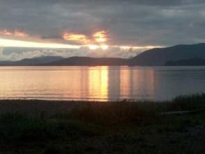 Sunset On The Beach In Sitka, Alaska