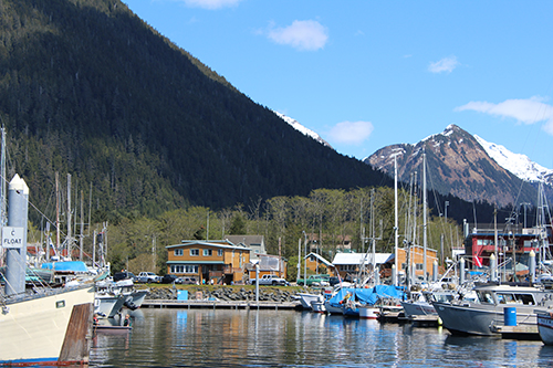 The View of the Lodge from Eliason Harbor